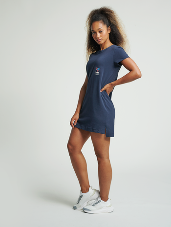 hmlNORISSA DRESS, BLUE NIGHTS, model
