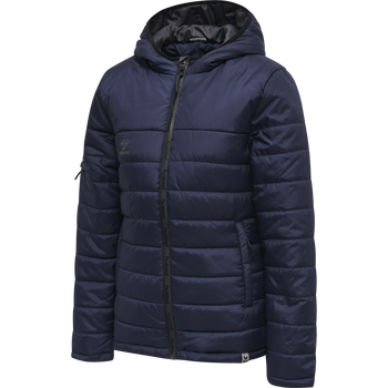 hmlNORTH QUILTED HOOD JACKET WOMAN, MARINE, packshot