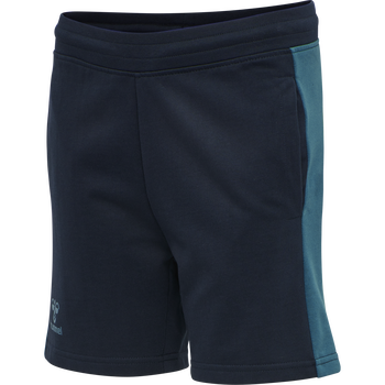 hmlACTION COTTON SHORTS KIDS, DARK SAPPHIRE/BLUE CORAL, packshot